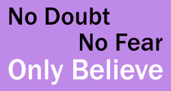 No Doubt Only Believe Logo light